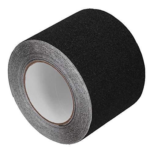 Weikeya Cinta de cinta resistente a rayas ideal hecha de papel de liberación de cinta de rayas de seguridad (negro)