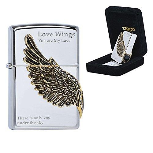Zippo LOVE WINGS 2 NI Lighters メイドインアメリカの韓国版 [並行輸入品]