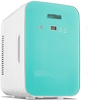 LJMG Outdoor Refrigerators Bedrooms Mini Fridge Freezer,Car Mini Retro Refrigerator 8L,Mute Compact Fridge 12V DC /220V AC,Fruit Cold Storage,Energy Saving,with Glass Door