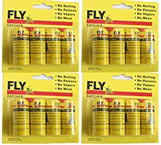 Cotton Fly Fly Paper Strips,Fly Trap, Fly Catcher Trap, Fly Ribbon, Fly Bait Victor Fly Bait --Set of 4 Card,16 PCS