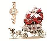 Skylofts Beautiful 10pc Chocolate Horse Decoration Piece with Women Watch Birthday Gifts (Pink)...