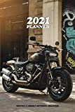2021 PLANNER MONTHLY & WEEKLY NOTEBOOK ORGANIZER: slim handy scheduler from Dec 20 to Jan 22 | motorbike planner for men with cool chopper bike cover
