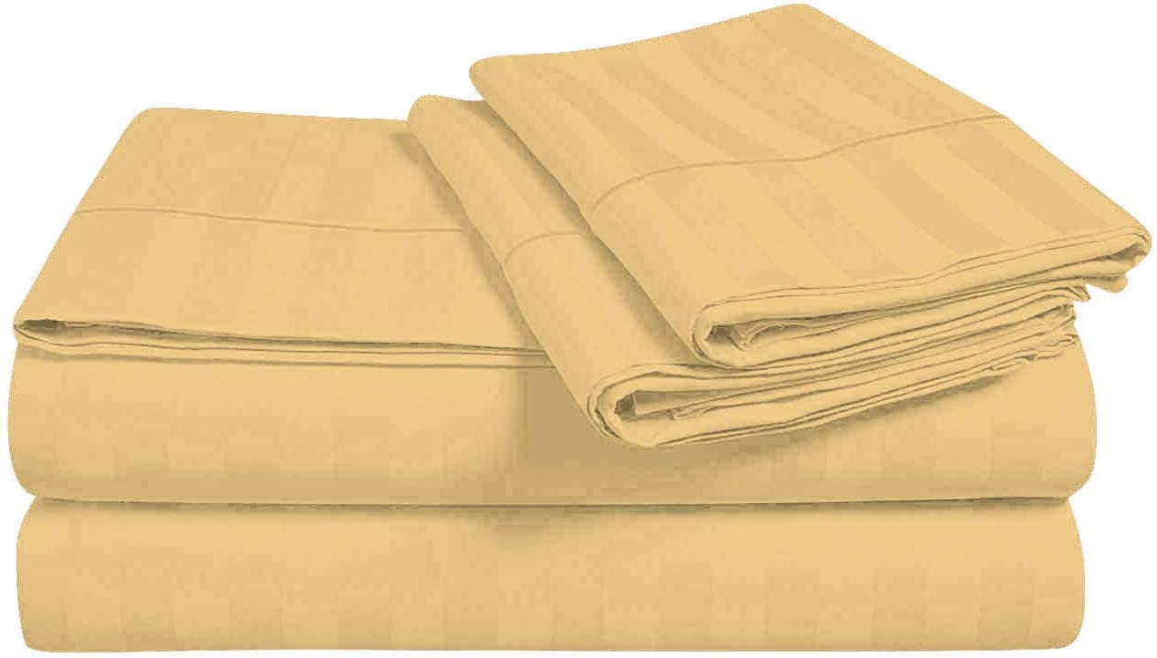 TwinXL Size 800 Thread Count Egyptian Stripe サービス Cotton Sateen オープニング 大放出セール 100%