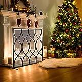 Salvachispas Protector de Chispa de Fuego de Navidad, Cerca del Lugar del Fuego del Hierro para la Decoración del Dormitorio de la Sala de Estar, Cubierta de Malla para Accesorios de Chimenea