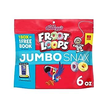 Kellogg s Froot Loops Jumbo Snax Cereal Snacks Original On the Go 6oz Resealable Bag