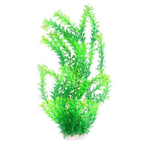 XiYou Artificial Aquarium Plants Fish Tank Decor Plastic Green Plant Lifelike Underwater Simulation Grass
