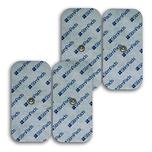 """StimPads Electrodos para Compex*, envase con 4 electrodos 50x100mm de """"UN Snap"""". ¡Funcionan a la perfección con Compex*,100% compatibles! ¡Ahorra hasta el 50% en comparación con los Originales!"""
