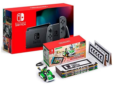 Nintendo Switch V2 32Gb Grau [neues model] + Mario Kart Live: Home Circuit - Luigi