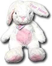 Aurora Personalized World Quizzies Bun Bun Pink Easter Bunny Plush Stuffed Animal Toy - 16 Inches