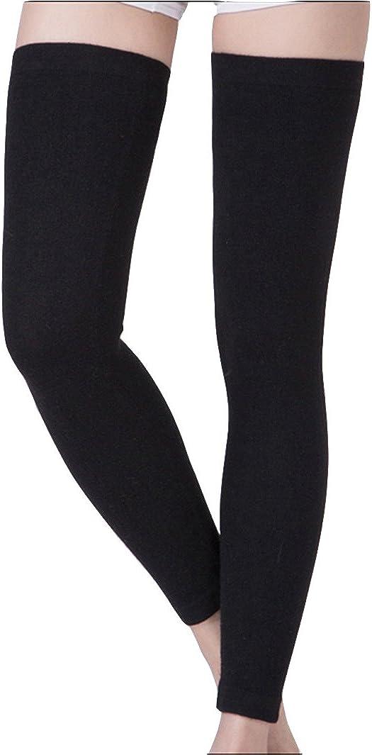 Ohahu Womens Winter Over Knee Footless Socks Knit Crochet Girls Leg Warmers