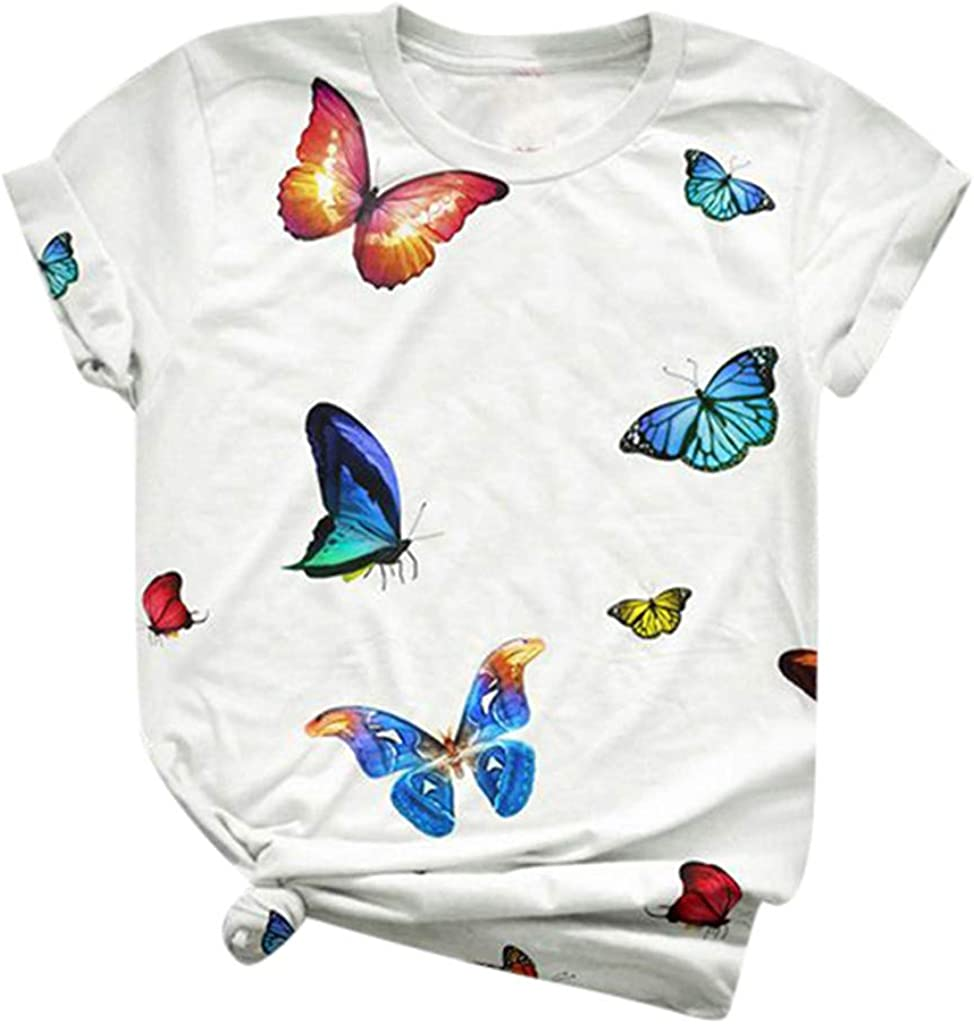 Shirts for Women Plus Size Tops Blouses Summer Short Sleeve Loose Casual T Shirt Junior Teen Girls Graphic Tees