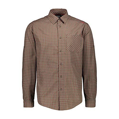 CMP Herren Langarm-Shirt mit Dry Function Technologie Hemd, Wood-Corda, 58