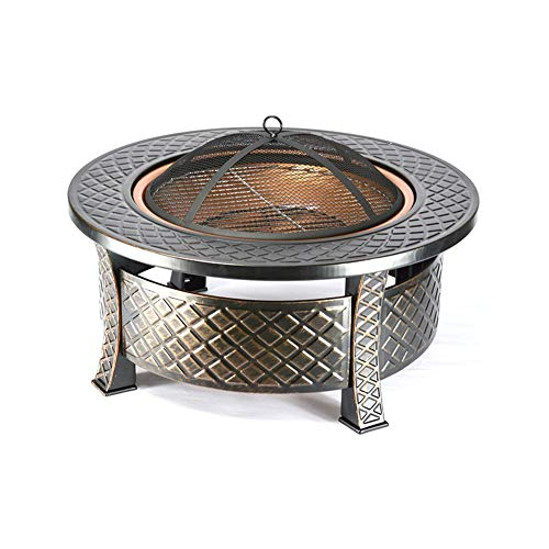 ZWH-Fire Pit Fire Pit Bowl Barbecue Grill Charcoal Outdoor Camp Carbon Stove Heating Brazier Home Barbecue Table