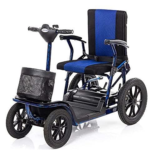 GAO-bo Movilidad Scooters, Sillas De Ruedas Eléctricas, 24V Movilidad Eléctrica Scooter Plegable Plegable Personas Mayors Power Silla Viajes Adultos Ancianos Discapacitados Viajes Al Aire Libre