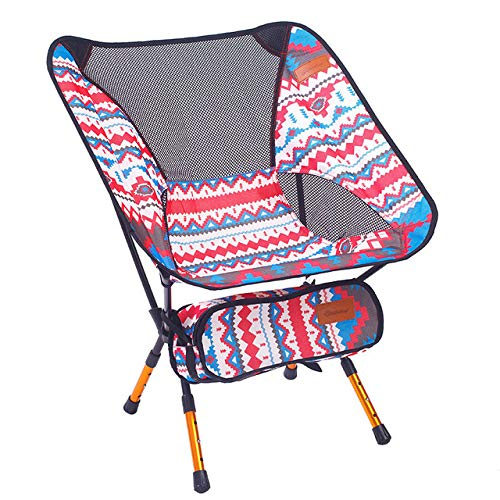 LJQLXJ Mesas Plegables Outdoor Folding Chair Portable Storage 7075 Aluminium Alloy Beach Chair Sketch Chair Backrest Adjustable Leg,Red
