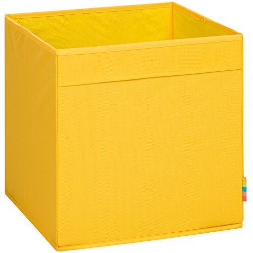 (Storanda) Aufbewahrungsbox MIO - Extra Stabile MDF Ausführung - Faltbox - Korb - 33x33x33 cm - (Gelb)