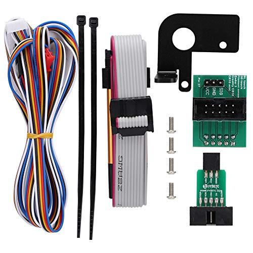 Tonysa Accesorios BL-Touch para Impresora 3D Creality CR-10/Ender-3, 1 * Cable de Enlace+ 2 * Placa de Adaptador+1 * Grabador+ 4 * Tornillo+1 * Cable+1 * Soporte+ 2 * Cable Tie para Impresora 3D