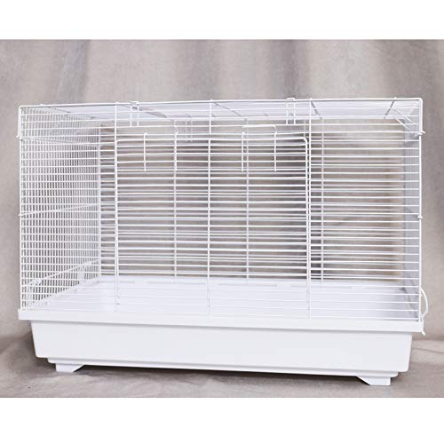CSDY-Hamster Cage House,Kit Breathable Small Animals, Hamster Habitat Cage Transparent Double-Layer Nest Gerbil Cage,603638 cm,White,A
