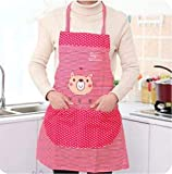 Delantal Cocina Hombre SLZFLSSHPK Las mujeres Señora linda babero impermeable delantal vestido restaurante Cocina casera con la cocción de bolsillo del delantal del babero de algodón delantal lindo de