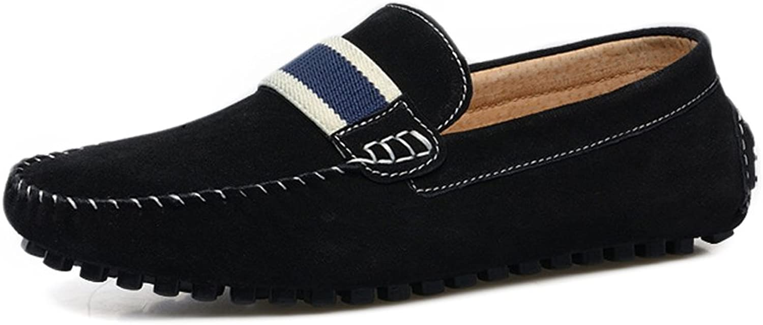 XXY Men's Driving Loafers Suede Genuine Leather Penny Moccasins Slip-on Boat shoes Dress shoes