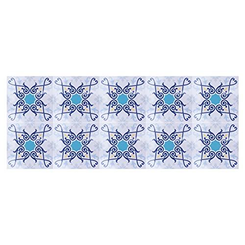 Gedourain Adhesivo para Azulejos, Adhesivo Antideslizante para Suelo, 10 Piezas para decoración del hogar, Cocina, baño(2)