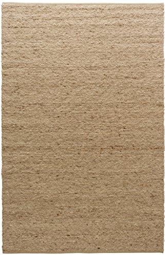TISCA Teppich aus Schurwolle Rouge Curry (Verschiedene Größen) 200 x 240 cm