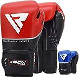 RDX Guantes de Boxeo para Entrenamiento y Muay Thai | Cuero Vacuno Mitones...