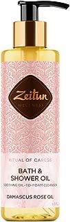 Zeitun Wellness Foaming Oil Natural Body Wash For Women   Ritual Of Caress   With Damascus Rose And Peach Oil   Skin Moisturizing Shower Gel Alternative For Sensitive Skin – 6.8 fl oz / 200 ml
