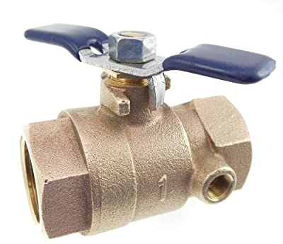 """Febco 781-054LL 1"""" Ball Valve Full Port Thread x Thread with Tapped Side by Park Supply of America"""