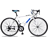 PYX Shock Absorbing Mountain Bike Adult Variable Speed ​​Bicycle Aluminum Alloy Handlebar Road Bike, 21-Speed