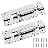 Aissy Door Lock Bolts - for Bathroom, Toilet, Shed, Shower, Bedroom - 2Pack Door Latch Slide Bolts Lock with Screws 3 Inch