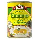 Ziyad Premium Hummus with Tahini Sauce, Chick Pea Dip, 100% All-Natural, No Cholesterol, No Additives, No Preservatives, Perfect for Camping! 14 oz
