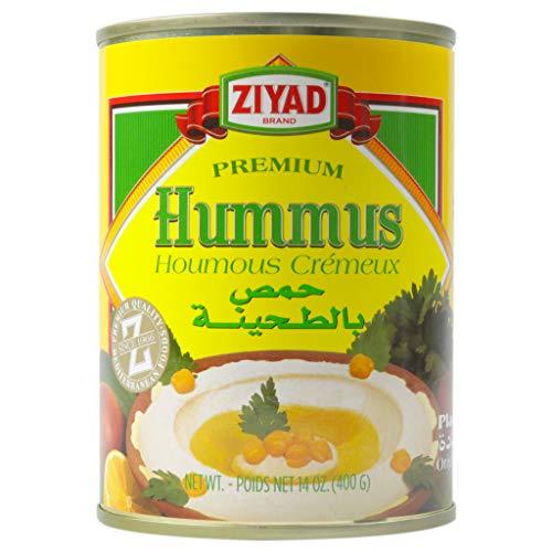 Ziyad Premium Hummus with Tahini Sauce, Chick Pea Dip, 100% All-Natural, No Additives, No Preservatives, 14 oz