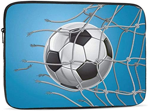 Borsa da calcio per computer portatile con bandiera ceca, compatibile con 10 – 17 pollici classica borsa per computer portatile, porta pallone da calcio, 30,5 cm