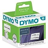 DYMO LW -  Etiquetas auténticas de envío/tarjetas de identificación grandes, 54mm×101mm, un rollo de 220etiquetas con reverso fácil de retirar, autoadhesivas, para rotuladoras LabelWriter