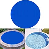 YSISLY Solar Swimming Pool Cover, Insulation Film, Pool Cover Heat Tarpaulin, Dust and Heat Insulation Protective Film, Rain Cloth, Ground Cloth for Indoor and Outdoor Pool (2.45 M x 2.45 M,Blue)