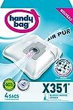 Handy Bag - X351 - 4 Sacs Aspirateurs, pour Aspirateurs Bluesky, Hoover et Severin, Fermeture...