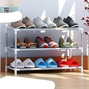 Tela no tejida simple gabinetes de zapatos cerca de la puerta extraíble zapatero organizador casa re gabinete de almacenamiento zapatos Rack-simple 3L
