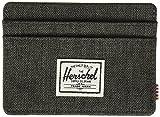 Herschel mens Charlie Rfid Card Case Wallet, black crosshatch, One Size US