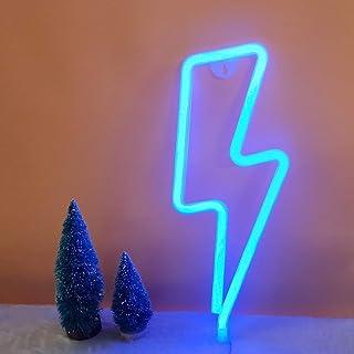 LED forme de foudre enseigne au néon lumière art décoratif lumières mur décor pour chambre de bébé fournitures de fête de ...