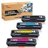 7Magic 201X Toner Compatible avec HP 201X 201A Cartouche de Toners pour HP Color...