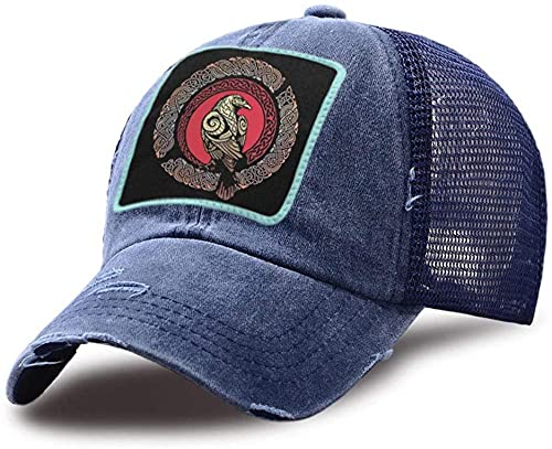 XTTGGD Gorra de Golf de Malla de algodón Unisex Eagle Vikings Hip Hop Sombreros de histéresis Sombrero de Camionero Informal al Aire Libre Gorras de béisbol de Calle Ajustables WH0565