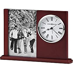 Howard Miller Portrait Caddy II Table Clock 645-780 – Picture Frame & Timepiece with Quartz, Alarm Movement