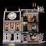 ZJJ Kit De Iluminación Compatible con Lego 76108 del LED Light Kit para (Marvel Super Heroes Vengadores Infinity War Sanctum Sanctorum Enfrentamiento) Bloques De Pared (No Incluido El Modelo)