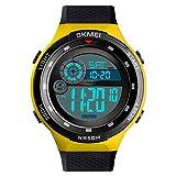 Skmei Sports Digital Black Dial Men's Watch - SKMEI 1465 Yellow