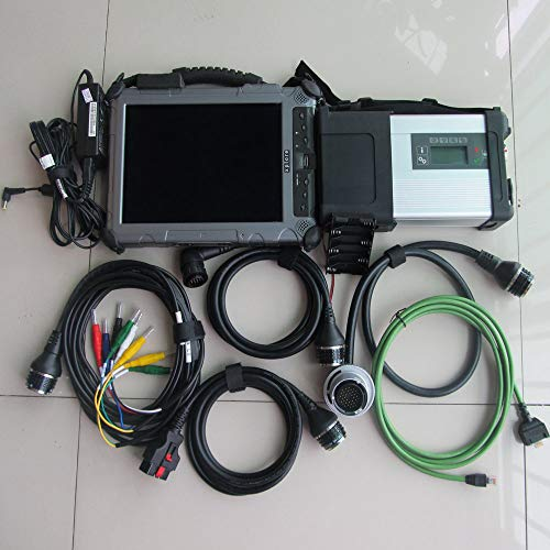 Generic mb sd connect c5 with ix104 tablet diagnostic laptop (4g, i7) installed well with mb star c5 mini ssd 2018.07v software super