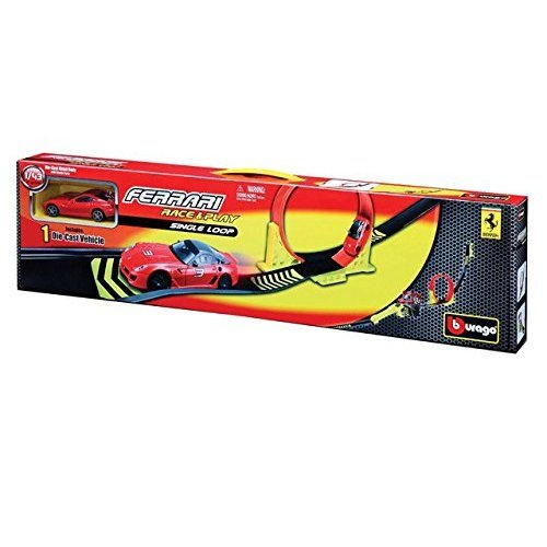 Burago - 0161023 - Circuit De Voiture - Ferrari Single Loop - Echelle 1/43