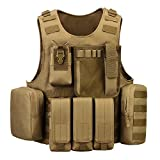 ArcEnCiel Tactical Molle Vest, Coyote Brown