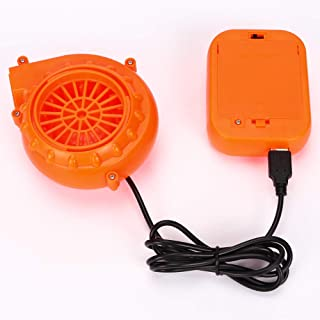 MuLing Mini Fan Blower with Battery Pack -Perfect for Mascot Head Inflatable Costume (Orange)