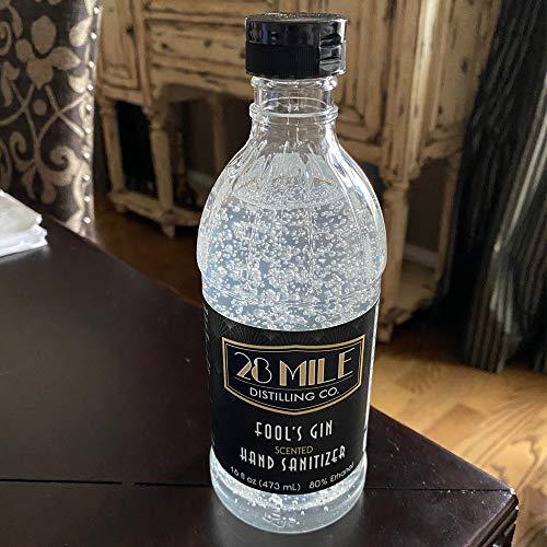 28 Mile Vodka, Fool's Gin Hand Sanitizer, 16 Fl Oz